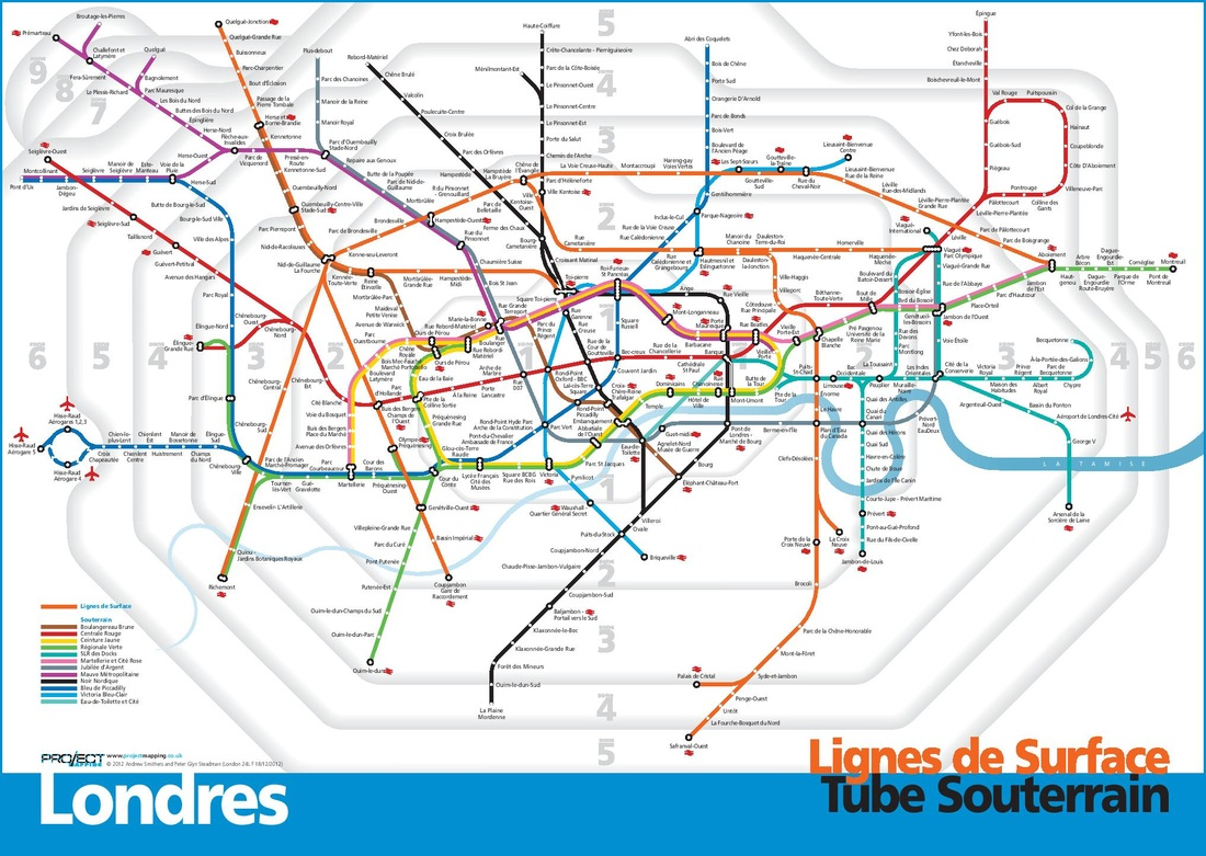 Maps Peter Steadman – French Tube Map
